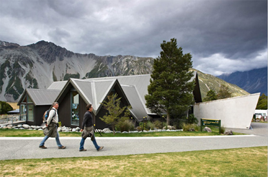 Aoraki/Mount Cook National Park Visitor Centre.